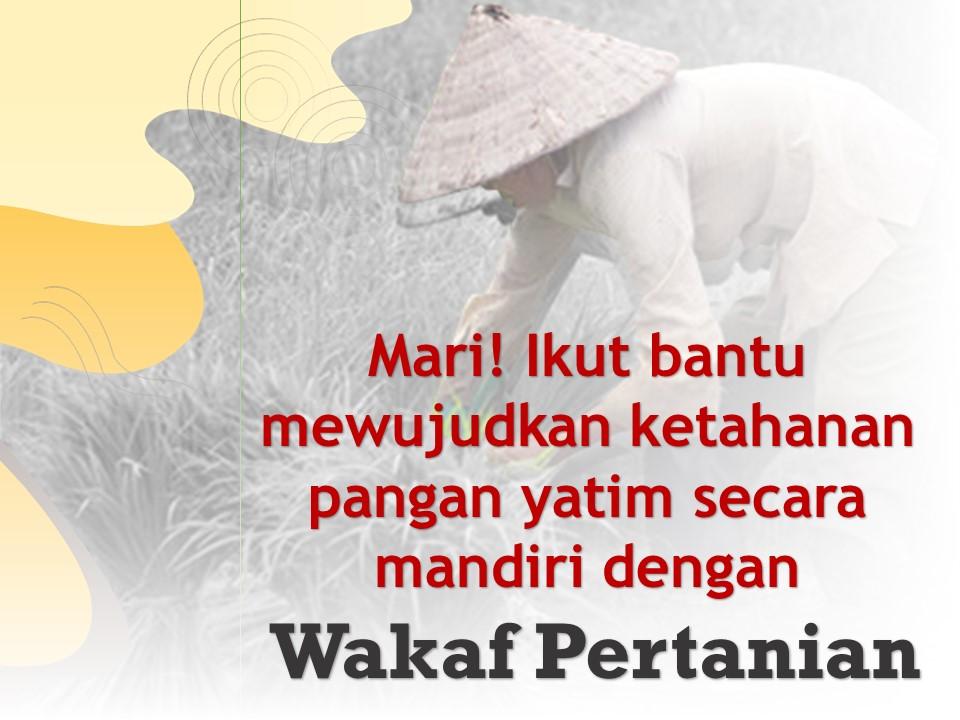 wakaf pertanian